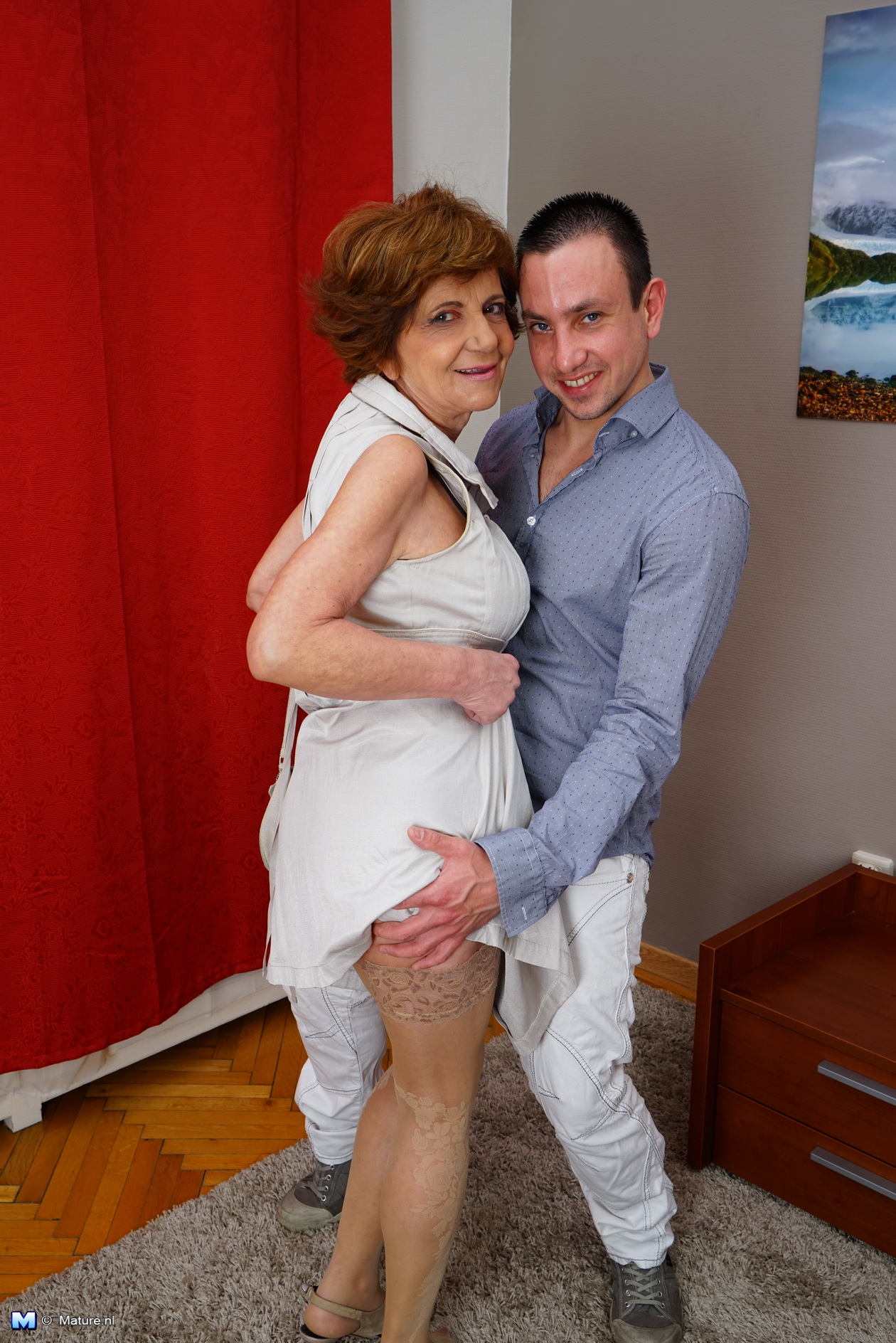 Mature grannies and boys