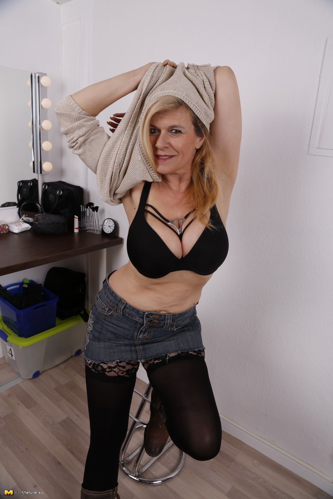 German Blonde Milf Solo