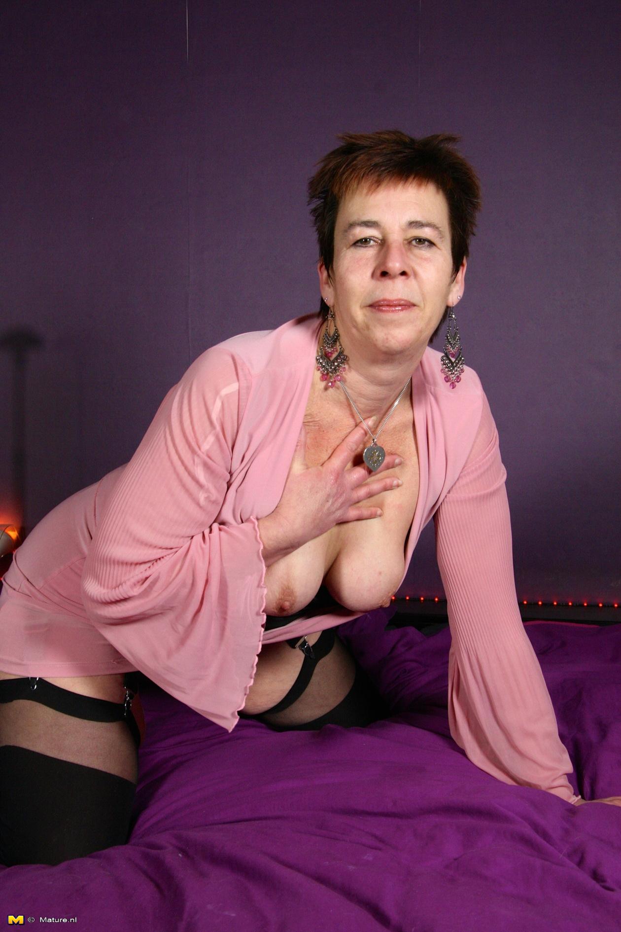 Naughty Dutch Mature Slut Getting Wet